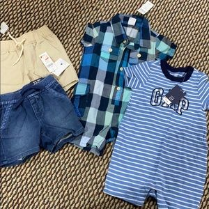 4 pieces of boys summer clothes 12-18 months